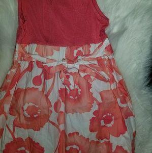 Cherokee Dresses - Girls size 7 -8 Cherokee orange and white sundress